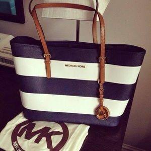 Handbags - Blue and white Bag from Michael Kors